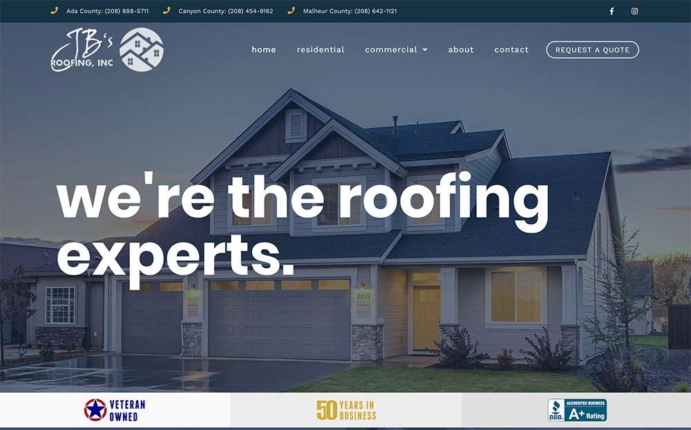 contractor website design Boise Idaho