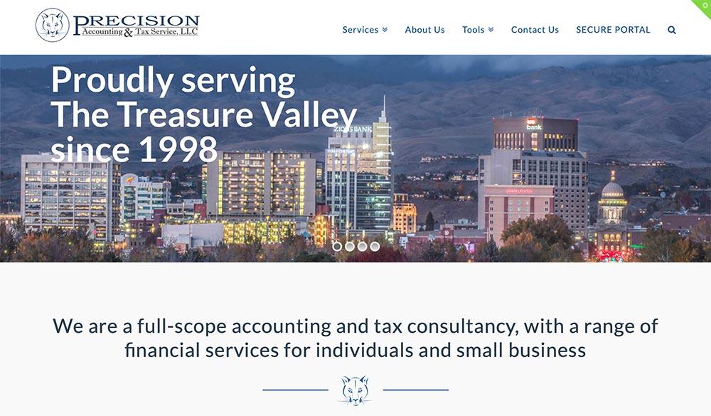 accounting website design Boise Idaho